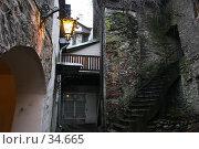 Дворик старого таллина (2007 год). Стоковое фото, фотограф Федюнин Александр / Фотобанк Лори