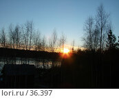 Купить «Орловское полесье вечером на закате солнца», фото № 36397, снято 19 декабря 2006 г. (c) Надежда Климовских / Фотобанк Лори