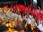 Абстрактный фон. Пятна красные, черные, серые, огненные., фото № 36861, снято 23 апреля 2007 г. (c) Петрова Ольга / Фотобанк Лори