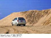 Автомобиль в песчаном карьере. Стоковое фото, фотограф Сергей Лаврентьев / Фотобанк Лори