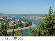 Купить «Вид на город Киренск», фото № 39565, снято 24 июля 2005 г. (c) Саломатов Александр Николаевич / Фотобанк Лори
