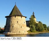 Купить «Псковский кремль, башня Плоская», фото № 39985, снято 13 сентября 2005 г. (c) Марина Грибок / Фотобанк Лори