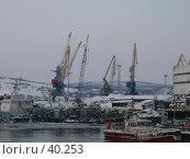 Купить «Мурманск Морской торговый порт», фото № 40253, снято 1 марта 2007 г. (c) Игорь Осадчий / Фотобанк Лори