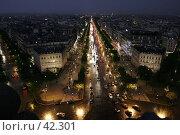 Улица ночного Парижа (2007 год). Стоковое фото, фотограф Федюнин Александр / Фотобанк Лори