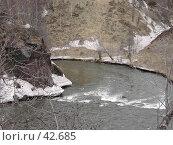 Купить «Поворот горной реки», фото № 42685, снято 12 мая 2007 г. (c) Maxim Kamchatka / Фотобанк Лори