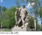 Купить «Мамаев курган, памятник, г. Волгоград», фото № 46245, снято 15 мая 2007 г. (c) Александр Литовченко / Фотобанк Лори