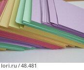 Купить «Цветная бумага для деловых записей», фото № 48481, снято 13 мая 2006 г. (c) Галина  Горбунова / Фотобанк Лори