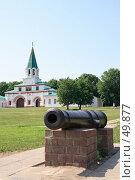 Купить «Старинная пушка в Коломенском. Москва», эксклюзивное фото № 49877, снято 31 мая 2007 г. (c) Ivan I. Karpovich / Фотобанк Лори