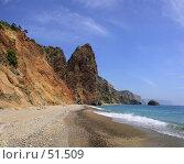 Купить «Яшмовый пляж», фото № 51509, снято 20 августа 2018 г. (c) Михаил Баевский / Фотобанк Лори