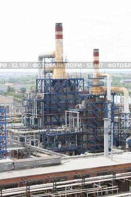 Купить «Нефтеперерабатывающий завод», фото № 52197, снято 8 июня 2007 г. (c) Евгений Батраков / Фотобанк Лори