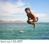 Купить «Прыжок», фото № 53397, снято 21 августа 2004 г. (c) Морозова Татьяна / Фотобанк Лори