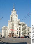 Купить «Сталинская высотка на Красных воротах», фото № 53617, снято 24 марта 2007 г. (c) urchin / Фотобанк Лори