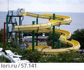 Купить «Аквапарк, Голубой залив, Крым», фото № 57141, снято 16 сентября 2006 г. (c) Елена Руденко / Фотобанк Лори