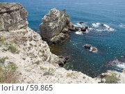 Купить «Скалистый берег», фото № 59865, снято 30 мая 2007 г. (c) Алексей Судариков / Фотобанк Лори