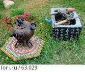 Купить «Декор для сада», фото № 63029, снято 17 июля 2007 г. (c) Тим Казаков / Фотобанк Лори