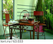 Купить «Интерьер летней веранды», фото № 63033, снято 17 июля 2007 г. (c) Тим Казаков / Фотобанк Лори