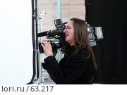 Купить «Видеооператор», фото № 63217, снято 3 мая 2007 г. (c) Сергей Лаврентьев / Фотобанк Лори