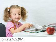 Купить «Симпатичная девочка читает книгу», фото № 65961, снято 28 июля 2007 г. (c) Ольга Красавина / Фотобанк Лори