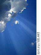 Купить «Облака и лучи», фото № 68441, снято 5 июля 2005 г. (c) Морозова Татьяна / Фотобанк Лори