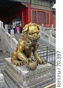 Купить «Китай. Пекин. Лев из Запретного города.», фото № 70397, снято 15 апреля 2004 г. (c) GrayFox / Фотобанк Лори