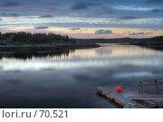 Купить «Рыбацкий пирс во фьорде на закате», фото № 70521, снято 22 мая 2018 г. (c) Михаил Лавренов / Фотобанк Лори