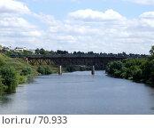 Поезд на железнодорожном мосту (2007 год). Стоковое фото, фотограф Людмила Жукова / Фотобанк Лори