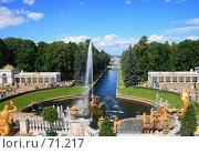 Купить «Петергоф. Вид на морской канал», эксклюзивное фото № 71217, снято 23 июля 2007 г. (c) Журавлев Андрей / Фотобанк Лори