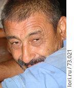 Купить «Мужчина с выразительным взглядом в голубой рубашке», фото № 73021, снято 26 июля 2007 г. (c) Ashot  M.Pogosyants / Фотобанк Лори