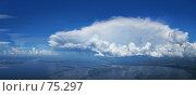 Купить «Воздушные замки. Панорама кучевых облаков.», фото № 75297, снято 27 мая 2018 г. (c) Владимир Мельников / Фотобанк Лори