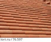 Купить «Черепичная крыша», эксклюзивное фото № 76597, снято 19 августа 2018 г. (c) Михаил Карташов / Фотобанк Лори
