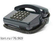 Купить «Кнопочный телефонный аппарат черного цвета», фото № 76969, снято 11 февраля 2007 г. (c) Александр Паррус / Фотобанк Лори