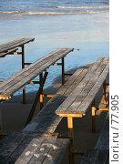 Купить «Деревянные скамейки», фото № 77905, снято 3 января 2007 г. (c) Морозова Татьяна / Фотобанк Лори