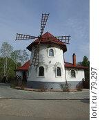 Купить «Ветряная мельница», фото № 79297, снято 17 мая 2007 г. (c) Дмитрий Карасев / Фотобанк Лори
