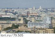 Купить «Панорама Москвы», фото № 79505, снято 19 августа 2018 г. (c) Юрий Синицын / Фотобанк Лори