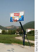 Купить «Баскетбольный щит на улице», фото № 80029, снято 26 августа 2007 г. (c) Fro / Фотобанк Лори
