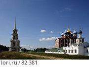 Успенский собор, колокольня, гостиница знати (2007 год). Редакционное фото, фотограф Поляков Денис / Фотобанк Лори