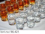 Купить «Стопки с алкоголем», эксклюзивное фото № 86421, снято 8 сентября 2007 г. (c) Ирина Мойсеева / Фотобанк Лори
