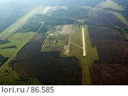 Купить «Аэродром, вид с самолета», фото № 86585, снято 27 декабря 2007 г. (c) Сергей Лешков / Фотобанк Лори
