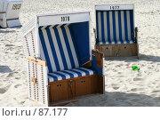 Купить «Пляжные кресла для отдыха на Северном море», фото № 87177, снято 14 апреля 2007 г. (c) Екатерина Соловьева / Фотобанк Лори
