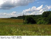 Купить «Облака над ЛЭП10кВ», фото № 87805, снято 16 июля 2006 г. (c) Григорий Стоякин / Фотобанк Лори