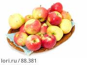 Купить «Блюдо с яблоками», фото № 88381, снято 26 мая 2018 г. (c) Угоренков Александр / Фотобанк Лори