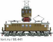 Купить «Первый советский электровоз ВЛ-19-01», иллюстрация № 88441 (c) Александр Володин / Фотобанк Лори