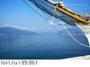 Купить «Вид на морской залив (Черногория)», фото № 89861, снято 18 августа 2007 г. (c) Сергей Лебедев / Фотобанк Лори
