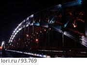 Купить «Большеохтинский мост ночью. Санкт-Петербург», фото № 93769, снято 2 февраля 2007 г. (c) Елена Мельникова / Фотобанк Лори