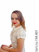 Купить «Красивая молодая женщина», фото № 94401, снято 4 октября 2007 г. (c) Валерия Потапова / Фотобанк Лори