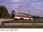 Купить «Памятник трамваю в городе Конотоп», фото № 94757, снято 19 августа 2018 г. (c) Герман Молодцов / Фотобанк Лори
