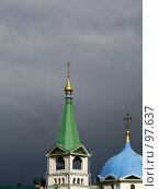 Купить «Звонница Вознесенского кафедрального собора. Новосибирск», фото № 97637, снято 12 августа 2005 г. (c) Derinat / Фотобанк Лори