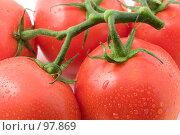 Купить «Красные спелые помидоры», фото № 97869, снято 12 октября 2007 г. (c) Алексей Судариков / Фотобанк Лори