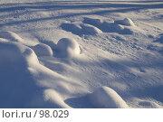 Купить «Снежная целина с сугробами», фото № 98029, снято 12 февраля 2007 г. (c) Юрий Синицын / Фотобанк Лори
