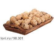 Купить «Грецкие орехи на подносе», фото № 98301, снято 11 октября 2007 г. (c) Владимир Мельник / Фотобанк Лори